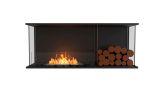 Flex Bay Bioethanol Firebox-50BY-Black Finish-Decorative Right Side