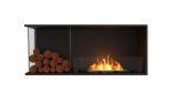 Flex Left Corner Bioethanol Firebox-Black Finish-Decorative Left Side