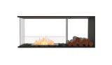 Flex Peninsula Bioethanol Firebox-Black Finish-Decorative Right Side