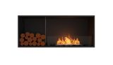 Flex Single Sided Bioethanol Firebox-Black Finish-Decorative Left Side