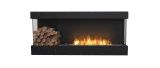 Flex Bay Bioethanol Firebox-68BY-Black Finish-Decorative Left Side