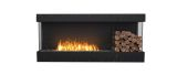 Flex Bay Bioethanol Firebox-68BY-Black Finish-Decorative Right Side
