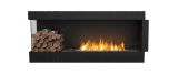 Flex Left Corner Bioethanol Firebox-Black Finish-Decorative Left Side