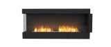 ESF.FX.68LC Flex Left Corner Bioethanol Firebox-68LC-Black Finish