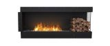 Flex Right Corner Bioethanol Firebox-Black Finish-Right Side