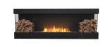 Flex Bay Bioethanol Firebox-86BY-Black Finish-Decorative Two Side