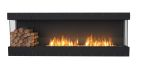 Flex Bay Bioethanol Firebox-86BY-Black Finish-Decorative Left Side