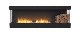Flex Bay Bioethanol Firebox-86BY-Black Finish-Decorative Right Side