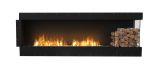Flex Right Corner Bioethanol Firebox-Black Finish-Right Side