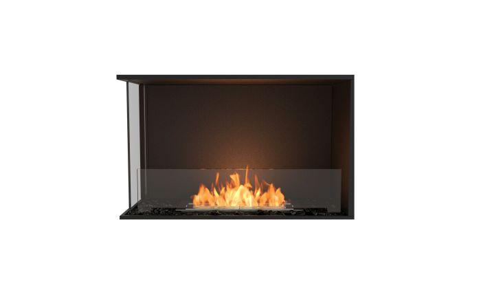 ESF.FX.32LC Flex Left Corner Bioethanol Firebox-32LC-Black Finish