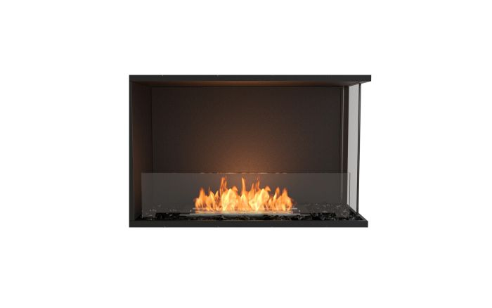 ESF.FX.32RC Flex Right Corner Bioethanol Firebox-32RC-Black Finish