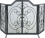 Dagan S169 Black Wrought Iron Arched Panel Screen