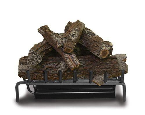 Single Sand Burner With Red Oak Log Set