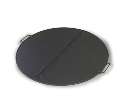 """44"""" Dia Round Folding 304 Stainless Steel Fire Pit Snuffer Cover"""