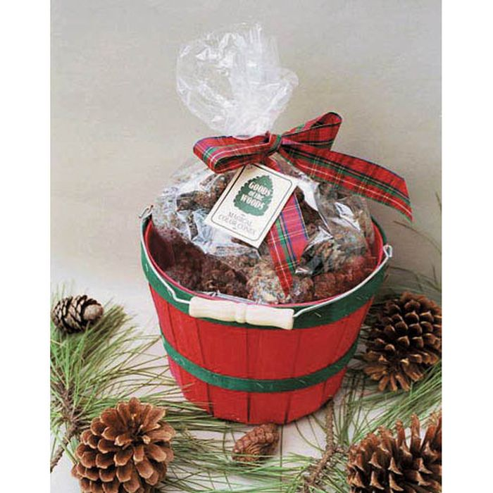 Color Cones in Green & Red Basket - 2 Lbs.