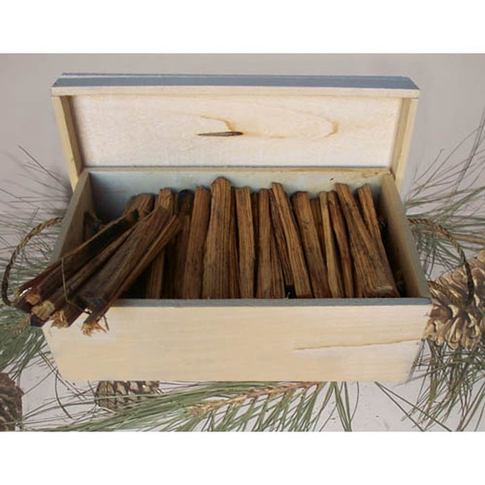 Fatwood Kindling Wood Storage Box/Peach Box with Rope Handles - 7 Lbs.
