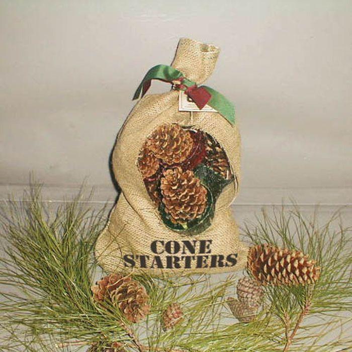 Cone Starters in Burlap Bag - 12 Cone Starters