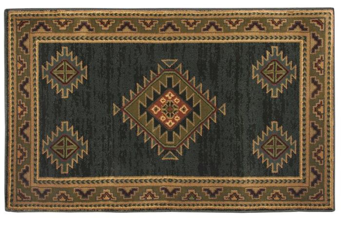 "Adobe Green Rectangular Rug - 50"" x 30"""