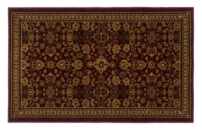 "High Country Classic Wine Rectangular Rug - 50"" x 30"""