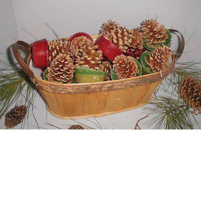 Cone Starters in Oval Wood Basket - 18 Cone Starters