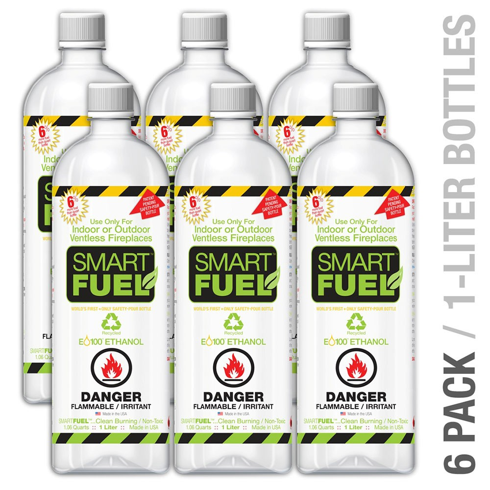 Anywhere Fireplace S0F6 SmartFuel Liquid Bio-Ethanol Fuel