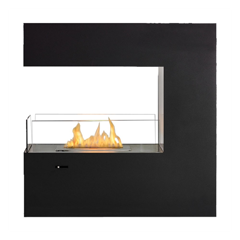 Matte Black Paramount Free Standing / Built-In Ethanol Fuel Fireplace