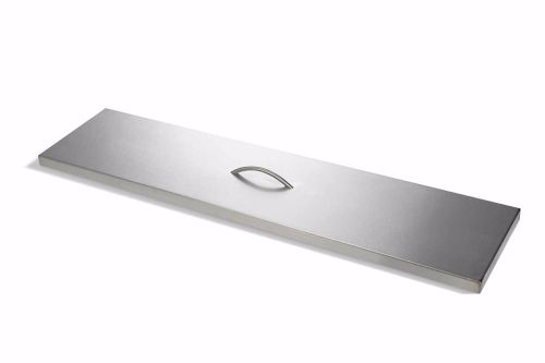 HPC 24 Inch Linear Trough Stainless Steel Firepit Cover