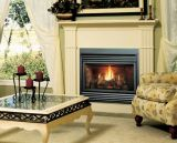 ZC B-Vent IPI Fireplace w/Traditional Oak Log Set and Grill Kit - LP
