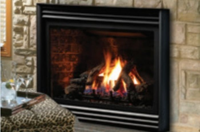 Direct Vent Millivolt Fireplace Insert w/Fiber Split Oak Log Set - LP