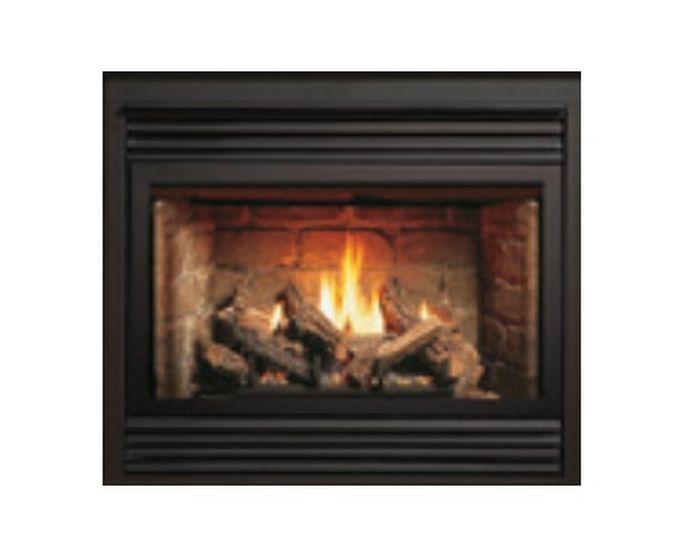 ZC B-Vent IPI Fireplace with Burnt Oak Log Set and Grill Kit - LP