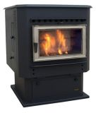 Magnum Countryside Flex-Fuel Stove with Pedestal and Nickel Door