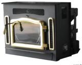Crossfire Flex-Fuel Stove with Fireplace Insert and Gold Door