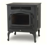 Country Flame Little Rascal Wood Pellet Stove with Black Door & Legs