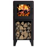 MF Fire Nova Tower Wood Burning Stove with Legs (Black)