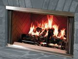 36 Outdoor SS Wood Burning Fireplace w/Traditional Panels
