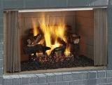 "Villawood 42"" Outdoor Wood Fireplace with Herringbone Refractory Liner"