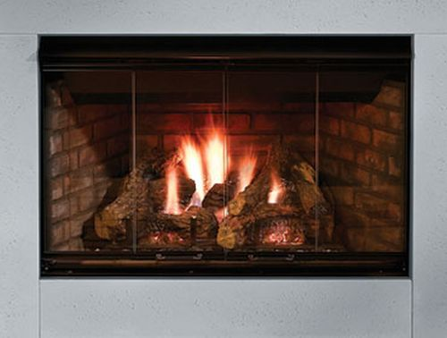 Reveal 36 B-Vent Gas Fireplace with Traditional Brick Refractory Liner