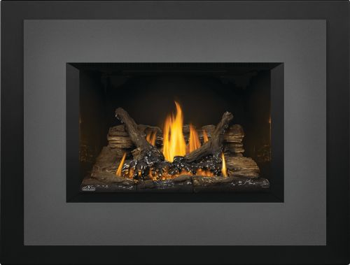 Oakville 3 Gas Fireplace Insert with Porcelain Reflective Panels