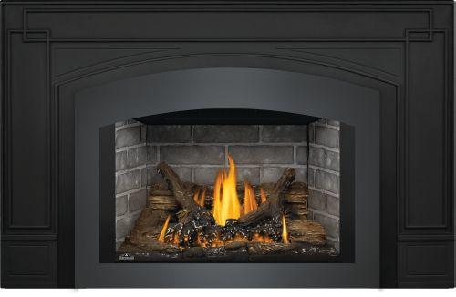 Oakville 3 Gas Fireplace Insert with Westminster Standard Brick Panels