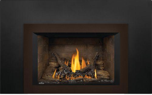 Oakville 3 Gas Fireplace Insert with Newport Standard Brick Panels