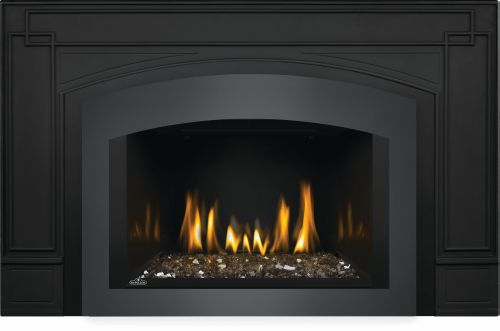 Oakville G3 Gas Fireplace Insert with Porcelain Reflective Radiant Panels