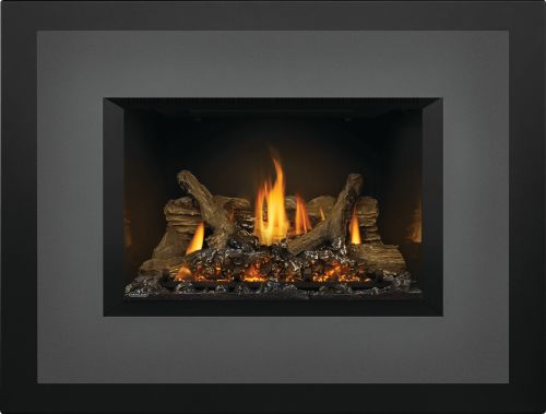 Oakville X3 Gas Fireplace Insert with Porcelain Reflective Panels