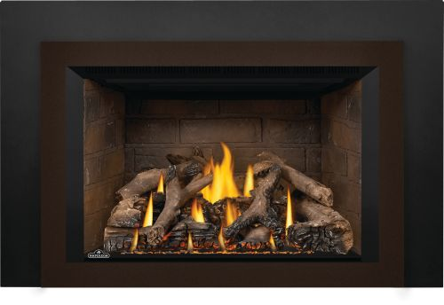 Oakville X4 Gas Fireplace Insert with Newport Standard Panels