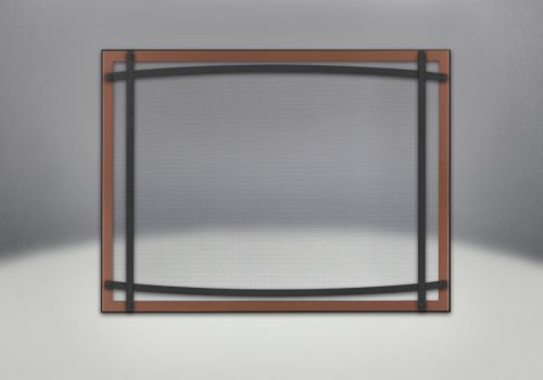 Napoleon DC40BC Safety Barrier w/ Curved Accents, Brushed Copper