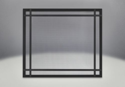 Napoleon DS35K Decorative Safety Barrier w/ Straight Accents Black