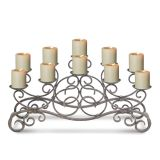 Pilgrim Brighton Candelabra in Distressed Bronze - Holds 10 Candles