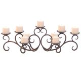 Pilgrim Hawthorne Candelabra in Distressed Bronze - Holds 9 Candles