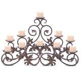 Pilgrim 17504 Venice Candelabra in Distressed Bronze- Holds 10 Candles