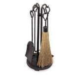 Pilgrim 18000 5 Piece Raised Hearth Stove Tool Set - Vintage Iron