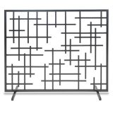 Pilgrim 18269 Single Panel Contemporary Summer Screen - Black